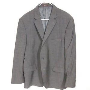 Peter Millar Suit Blazer 48 Tall 100% Wool Grey